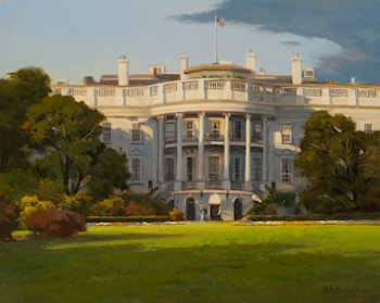 The White House - South Portico by John Pototschnik