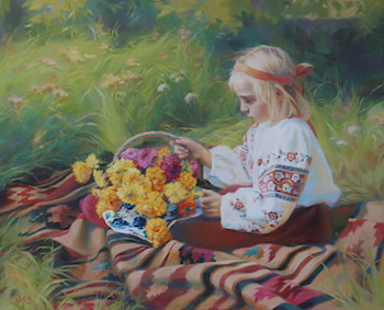 Flowers for Grandmother. by Victoria Radionova