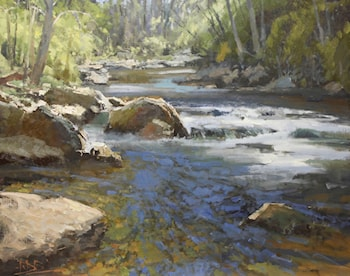 Mountain River by Roger Dale Brown
