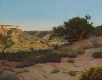 Evening Cliffs, Palo Duro by Kirk (Stephen Kirk) Richards
