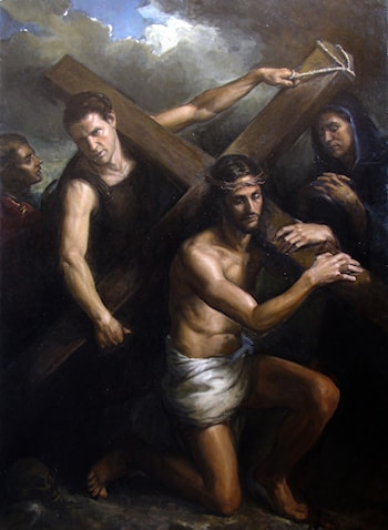 Jesus Carrying the Cross by Matthew James Collins