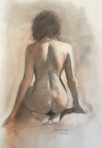 Kneeling Nude by Robert Dale Williams
