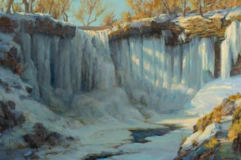 Minnehaha Falls in Winter by Mary Pettis