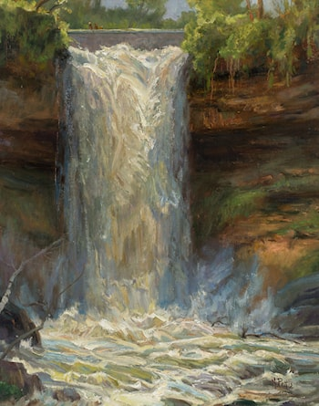 Minnehaha Falls Overcast by Mary Pettis