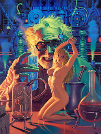Mad Science - Self Portrait by Gregory Hildebrandt