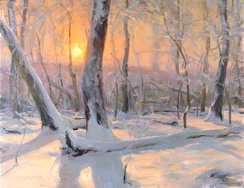 Frost on the Hardwoods by Daniel F. Gerhartz
