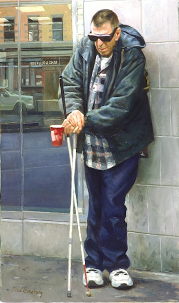 Blind Beggar by Max Ginsburg