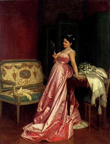 The Admiring Glance by Auguste Toulmouche