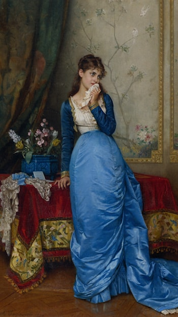The Letter by Auguste Toulmouche