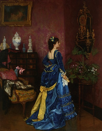 The Blue Dress by Auguste Toulmouche
