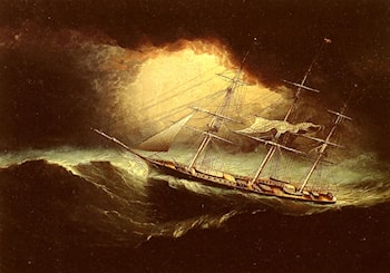 Ship In A Storm by James E. Buttersworth