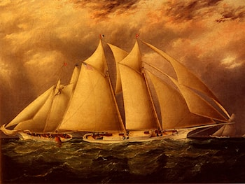 Yacht Alice Rounding The Buoy by James E. Buttersworth