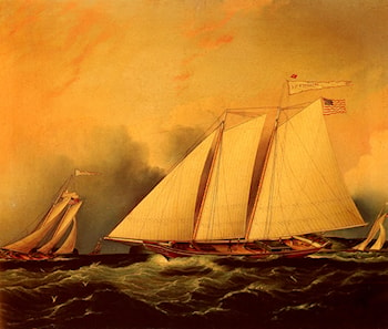 Under Full Sail by James E. Buttersworth