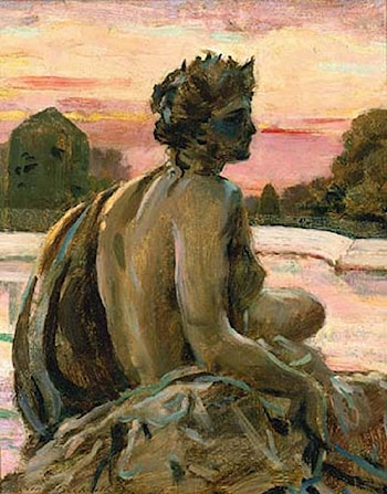 One of the Figures at the Parterre d'Eau by James Carroll Beckwith