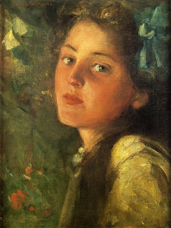 A Wistful Look by James Carroll Beckwith