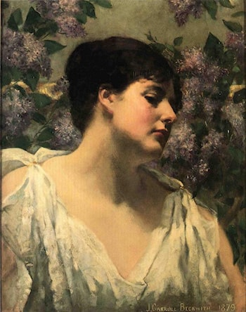 Under the Lilacs by James Carroll Beckwith