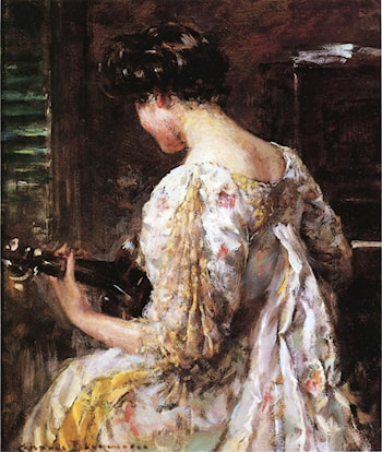 Woman with Guitar by James Carroll Beckwith