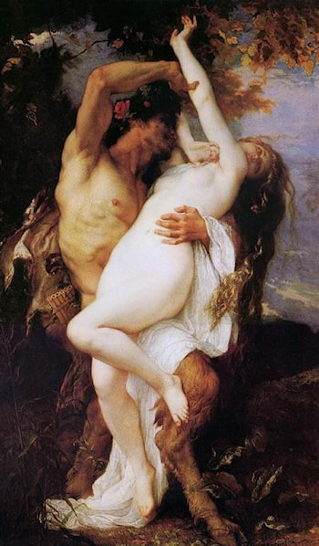 Nymphe et Satyr by Alexandre Cabanel
