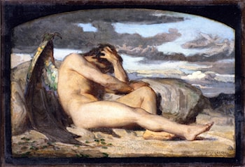 Study for 'Fallen Angel' by Alexandre Cabanel