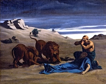 Paul the First Hermit with Lions by Alexandre Cabanel