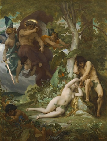 The Expulsion of Adam and Eve from the Garden of Paradise by Alexandre Cabanel