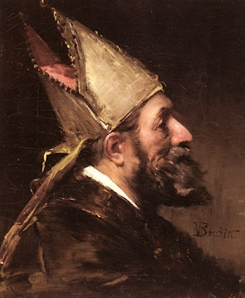 A Bishop by Wenceslas Vacslav Brozik