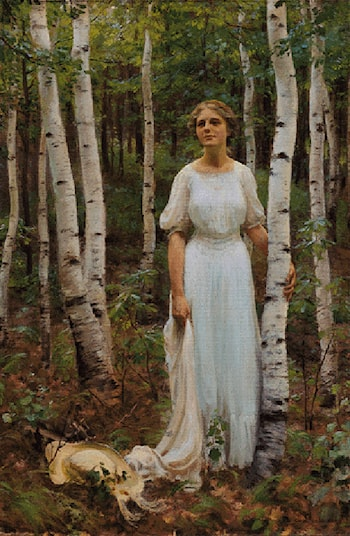 Woodland Solitude by Charles Courtney Curran