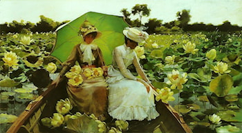 Lotus Lillies by Charles Courtney Curran
