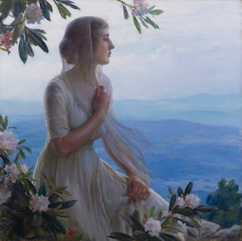 The Mountain Side Seat by Charles Courtney Curran