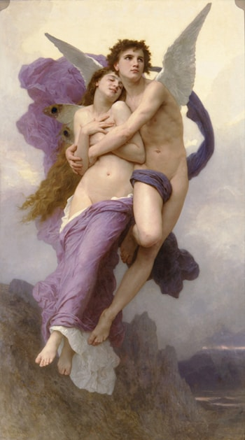 Le Ravissement de Psyche by William Adolphe Bouguereau