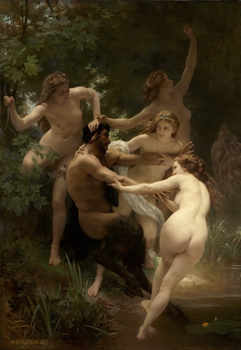 Nymphes et Satyre by William Adolphe Bouguereau