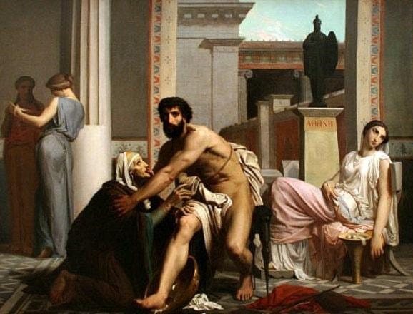 Odysseus and Eurycleia by William Adolphe Bouguereau - Art Renewal Center