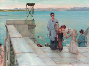 A Kiss by Lawrence Alma-Tadema