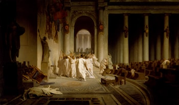 The Death of Caesar by Jean-Leon Gerome