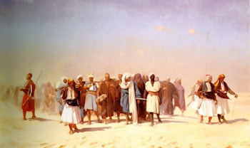Egyptian Recruits Crossing the Desert by Jean-Léon Gérôme