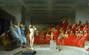 Phryne before the Areopagus by Jean-Léon Gérôme