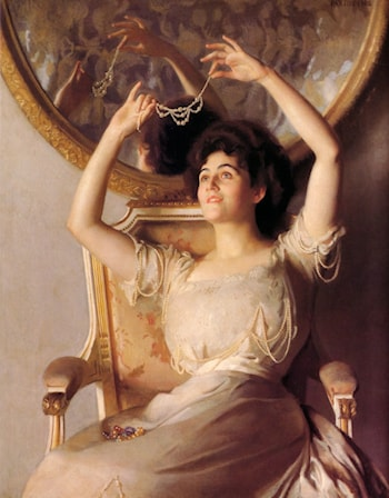 The String of Pearls by William McGregor Paxton