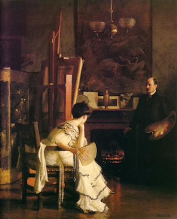 In the Studio by William McGregor Paxton