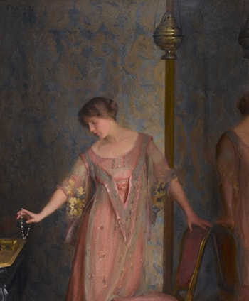 Rose and Blue by William McGregor Paxton