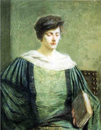 A Follower of Grolier by Julian Alden Weir