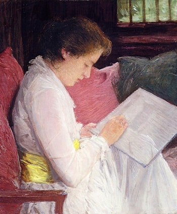The Lace Maker by Julian Alden Weir