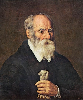 Portrait of an Old Man with Gloves by Marcantonio Bassetti