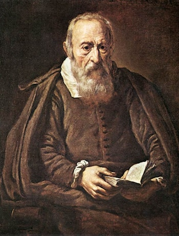 Portrait of an Old Man with Book by Marcantonio Bassetti