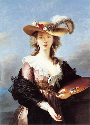 Self Portrait in a Straw Hat by Louise Élisabeth Vigée-Le Brun