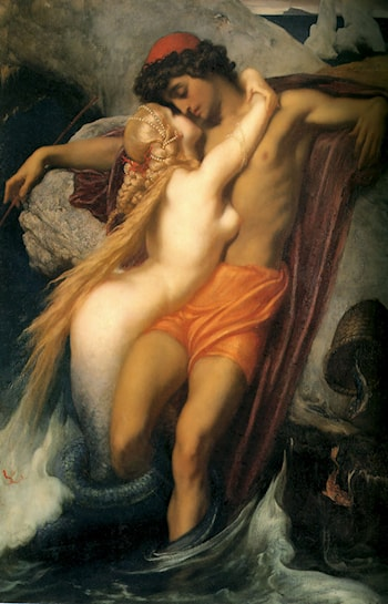 The Fisherman and the Syren by Lord Frederick Leighton