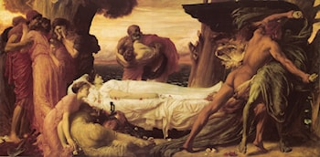 Hercules Wrestling with Death for the Body of Alcestis by Lord Frederick Leighton