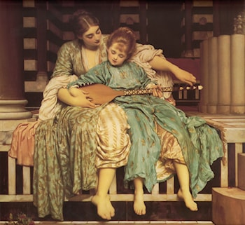 Music Lesson by Lord Frederick Leighton