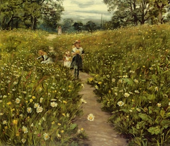 Gathering Wild Flowers by Philip Richard Morris