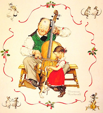 Christmas Dance by Norman Rockwell