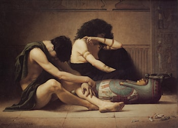 The Death of the First­Born by Charles Sprague Pearce